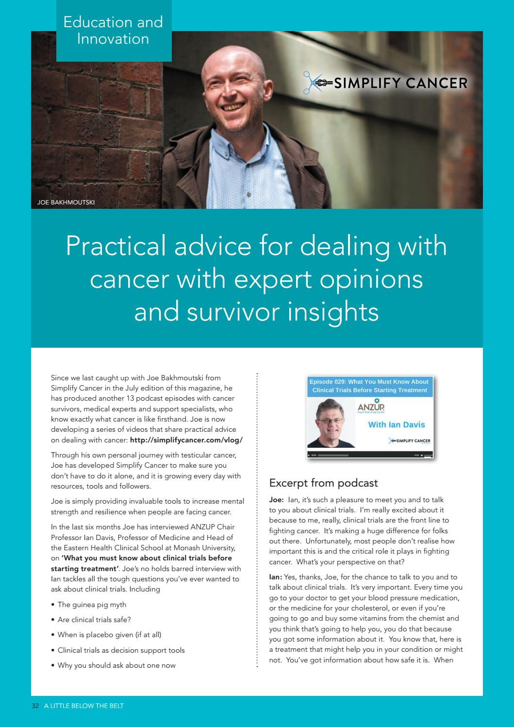 Practical advice for dealing with cancer with expert opinions and survivor insights
