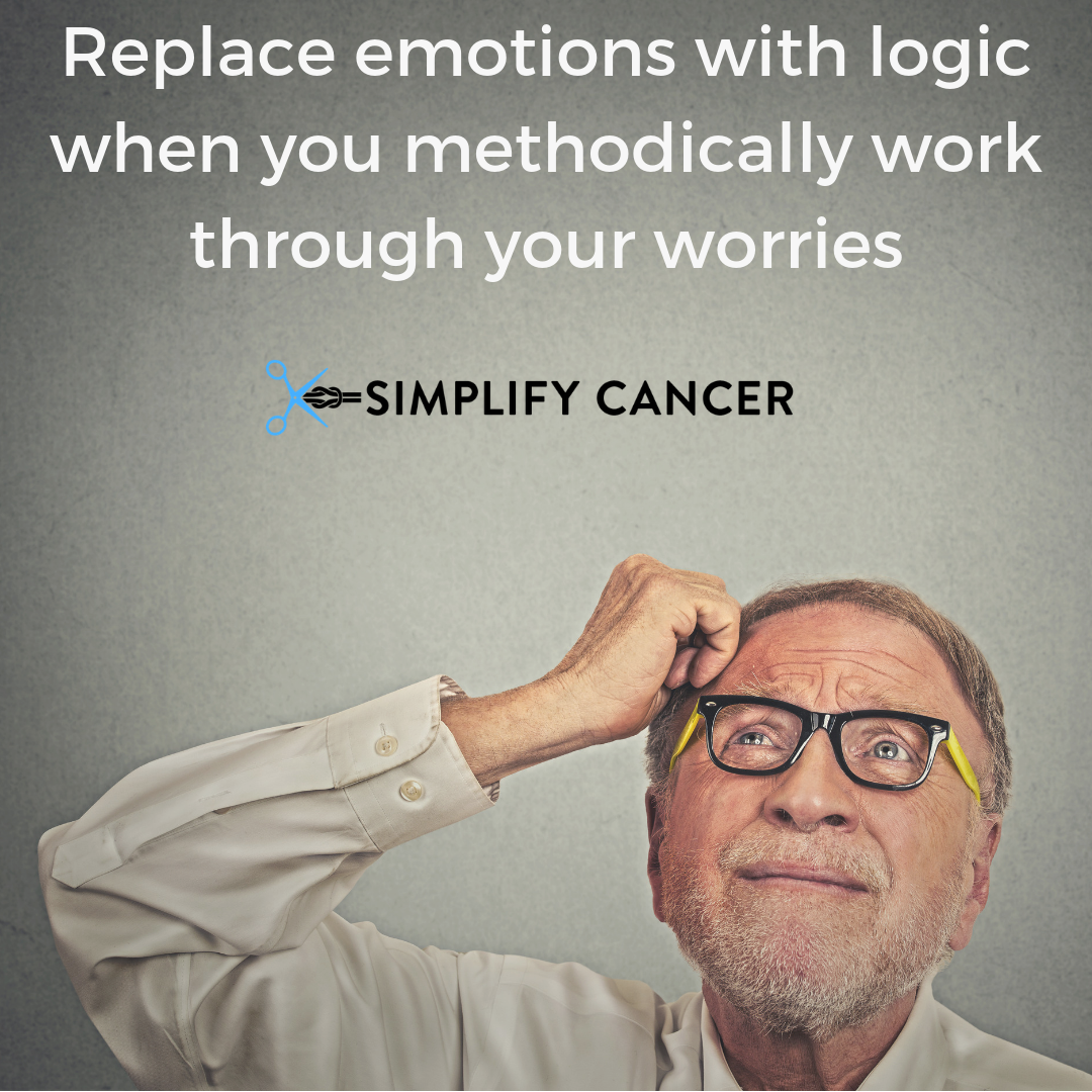 Replace emotions with logic when you methodically work through your worries