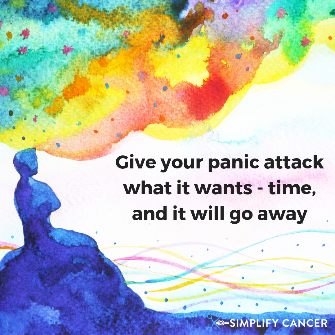 Give your panic attack what it wants time and it will go away