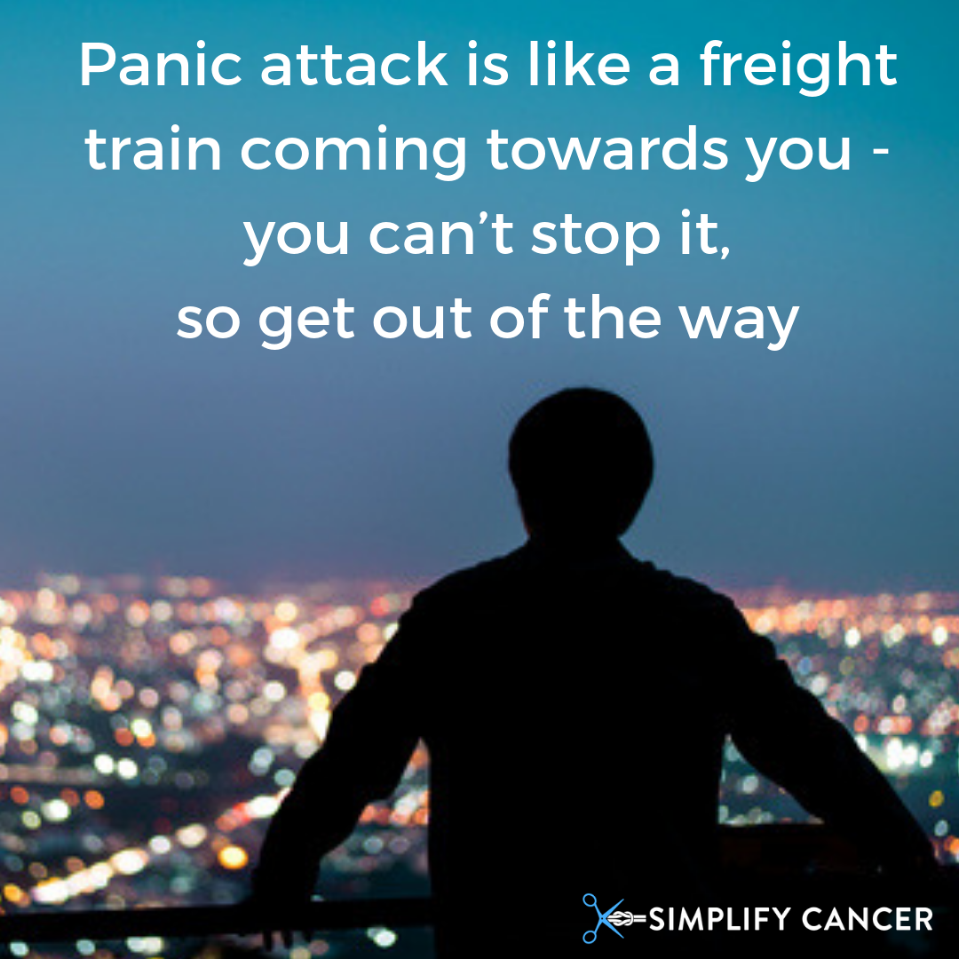 Panic attack is like a freight train coming towards you