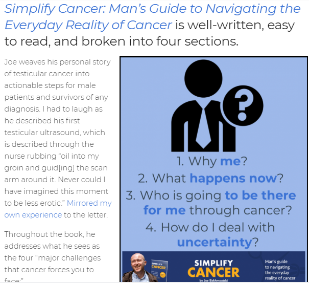 """Simplify Cancer: Man's Guide to Navigating the Everyday Reality of Cancer"" – A Book Review"