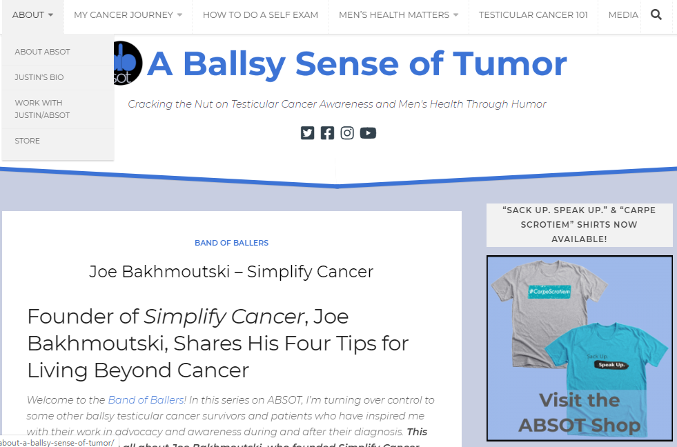 """Founder of Simplify Cancer, Joe Bakhmoutski, Shares His Four Tips for Living Beyond Cancer"" – Guest Post"