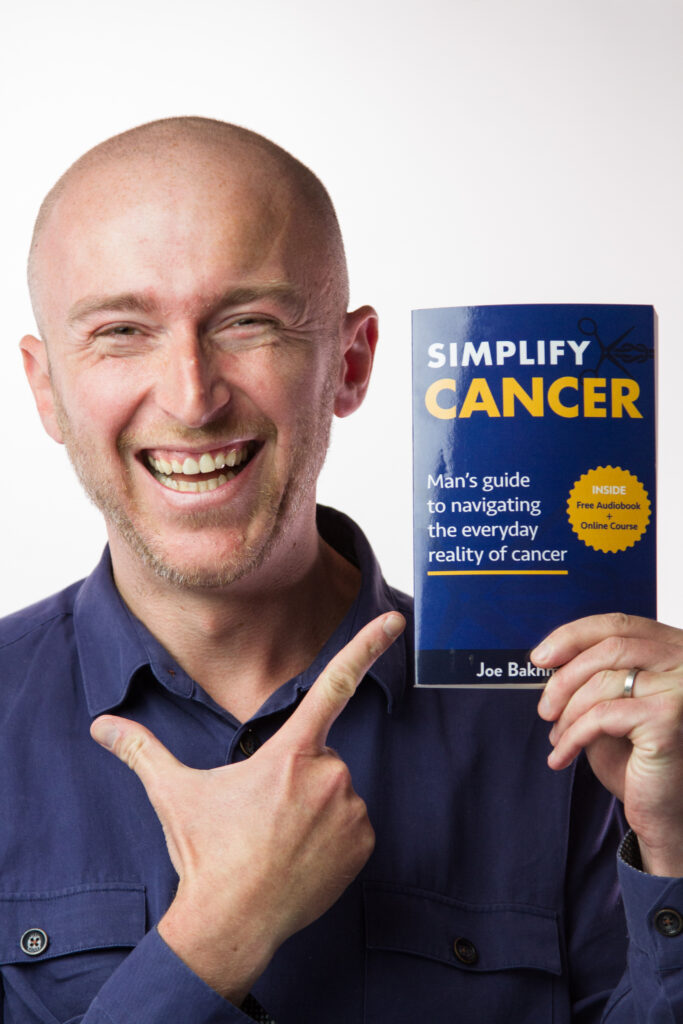 Joe with Simplify Cancer Book